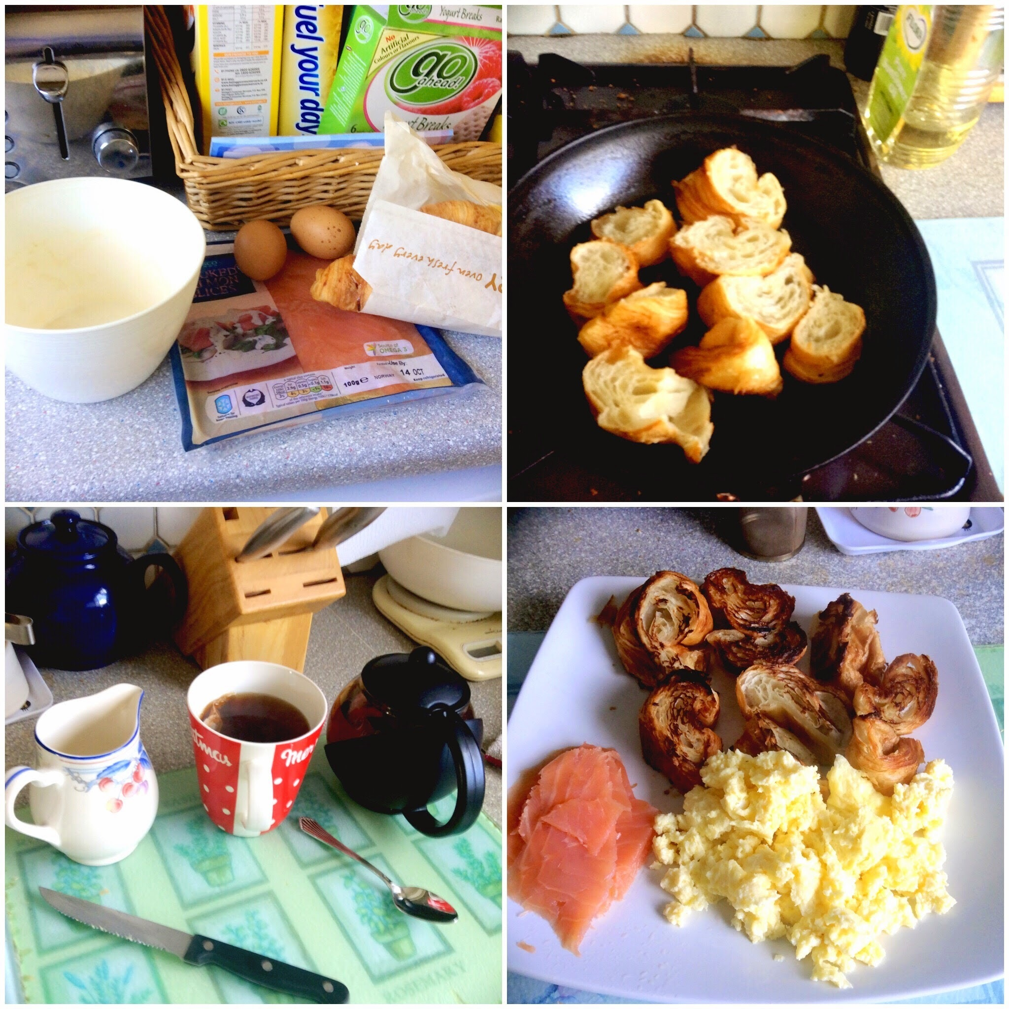 Scrambled Eggs & Smoked Salmon Croissants