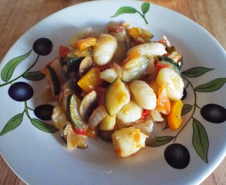 Cheap Budget Meal - Mediterranean Vegetable Gnocchi Bake