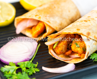 Chicken Kathi Roll- Indian Chicken Roll- Chicken Kati roll - MeemisKitchen