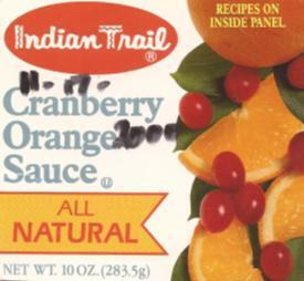 Indian Trail Cranberry Orange Sauce and Cranberry Jello
