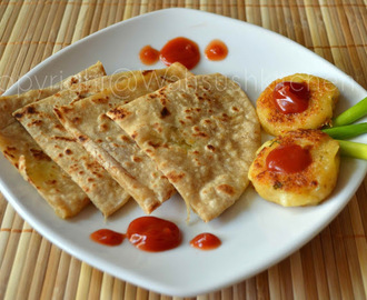 aloo cheese paratha(Potato Cheese Stuffed Flat Bread)