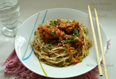 Rice Noodles(Chinese) with Chicken Teriyaki