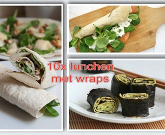 10x lunchen met wraps