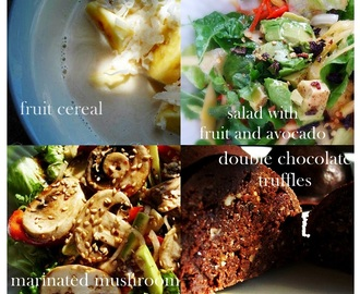 Raw Food Menu: March 10, 2013