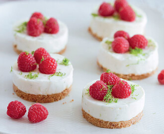 Lemon and Lime Cheesecakes