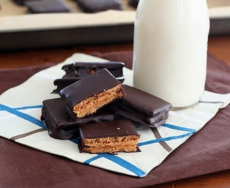 Chocolate-Covered Peanut Butter Graham Crackers – Low Carb and Gluten-Free