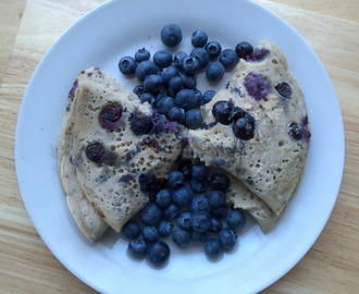 Rocket & Roses Messy Blueberry Buckwheat Breakfast Pancakes (vegan & gluten-free)