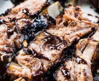 Sticky Paleo Ribs with Chocolate BBQ Sauce