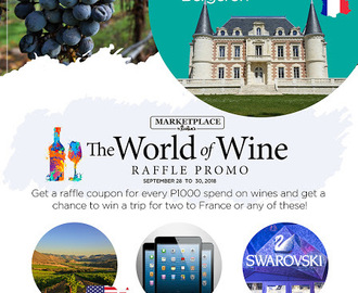 Win a Trip for Two to France at the Marketplace by Rustan's World of Wine Fair