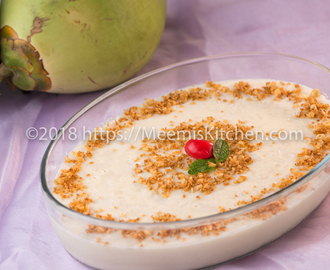 Karikku Pudding /Tender Coconut/ Ilaneer pudding - MeemisKitchen