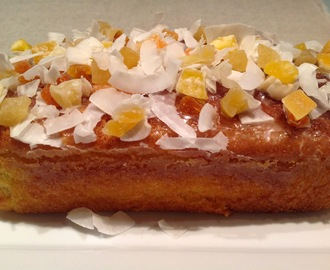 Christmas Coconut and Pineapple Loaf Cake