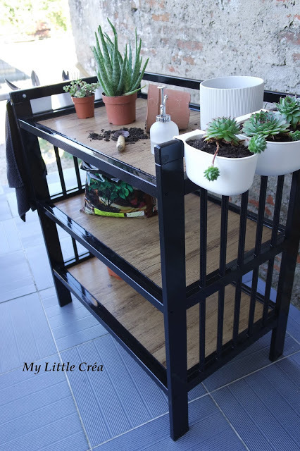 Transformation d'une table à langer en une table de jardinage #IKEA #recycler