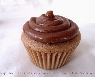 Cupcakes au marron glacé, au chocolat et à l'orange