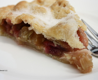 Rhubarb Tart… but with a twist