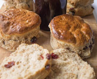 Wholemeal Cranberry Scones