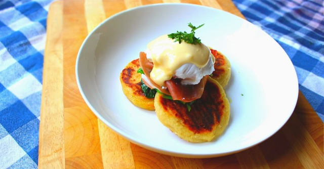 Leftover Ideas: Homemade Tattie Scones with Wilted Spinach, Parma Ham & Poached Egg
