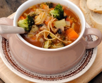 Spicy Vegetable Soup with Noodles
