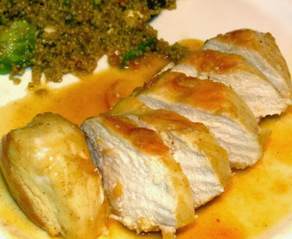 The Warm Kitchen's Sauteed Chicken with Apricot Dijon Glaze