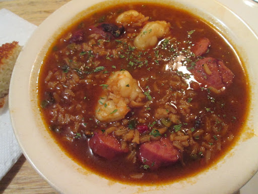 Hardwood Smoked Turkey Sausage and Shrimp Gumbo w/ Cornbread