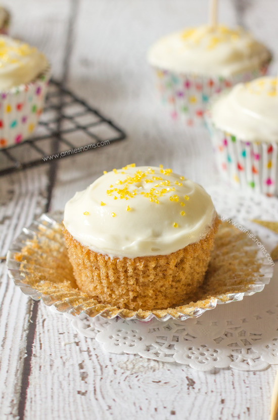 Spiced Cupcakes with Orange Filling and Cream Cheese Frosting