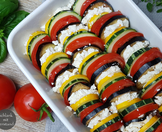 low carb Ratatouille aus dem Ofen