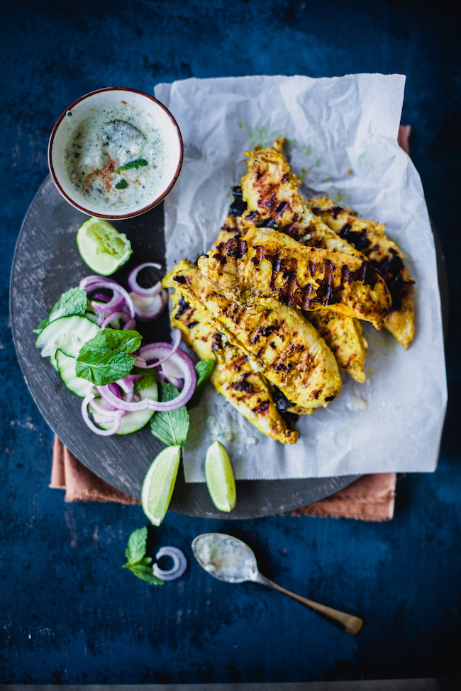Garam Masala Grilled Chicken Tenders