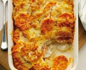 Slimming World Recipe:- Two Potato Dauphinoise