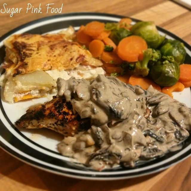 Slimming World Recipe:- Pan Friend Chicken Breast with Creamy Mushroom Sauce