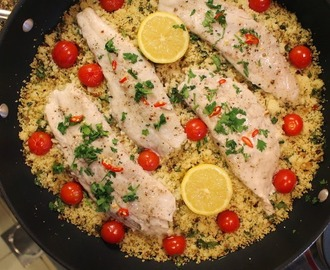 Fish Steamed with Spicy Couscous #SundaySupper