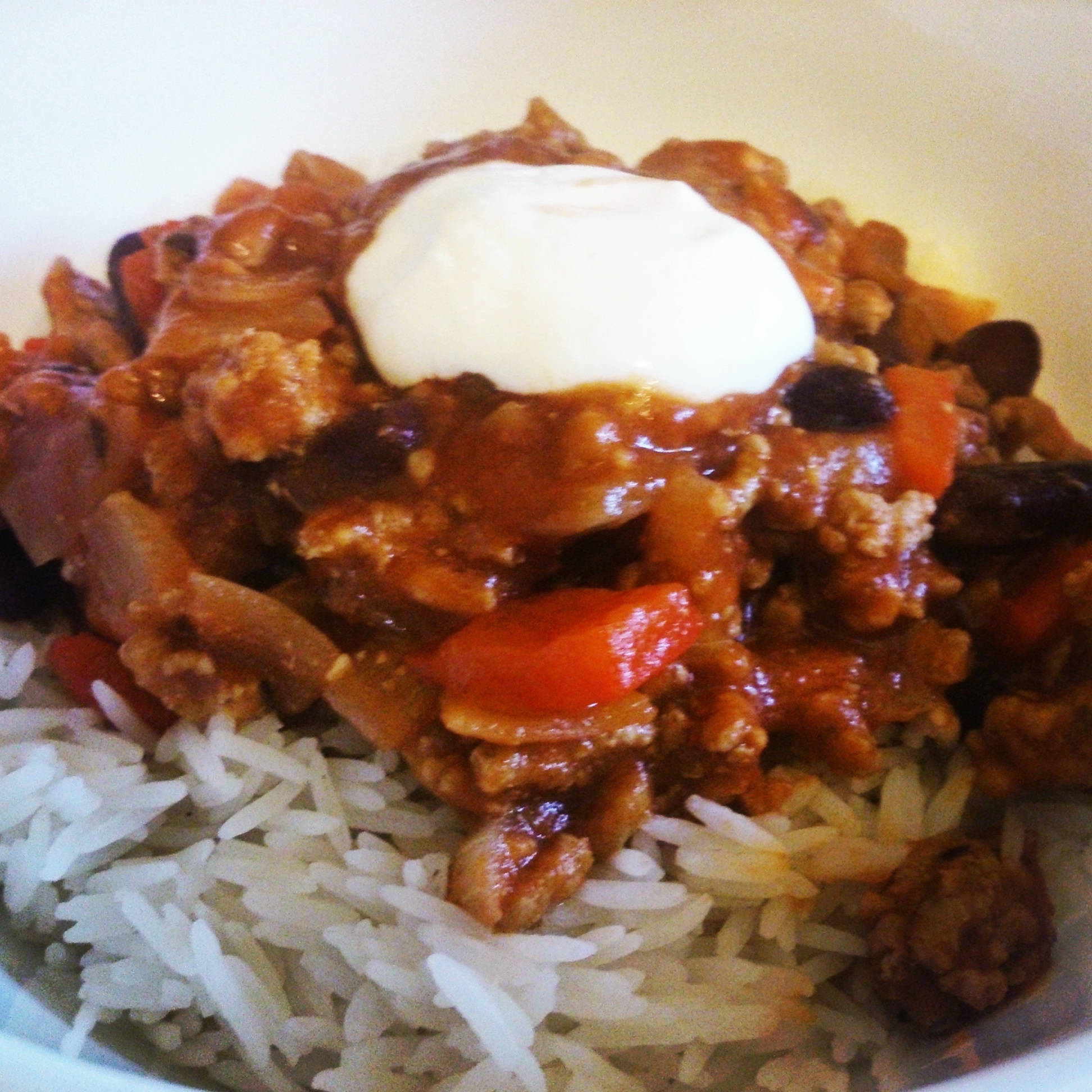 Pork chilli con carne