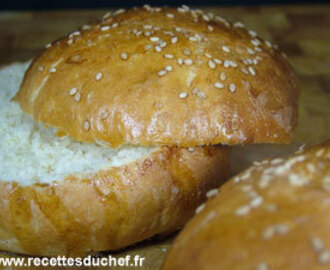 Buns : pains pour hamburger maison