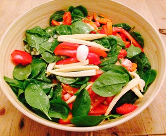 Spinach Salad with 'Honey' Mustard Dressing