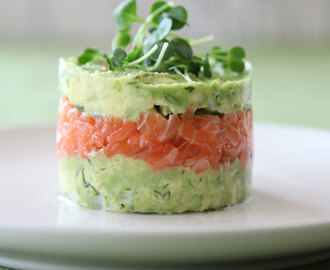 Salmon and Avocado Towers