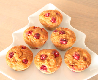 Cranberry-sinaasappel cupcakes