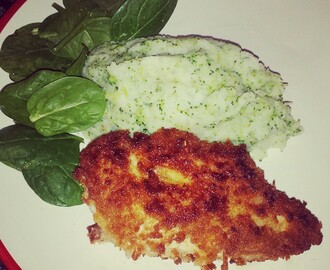 Things I have been cooking lately #102: Chicken kiev with broccoli mash