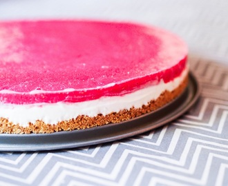 Vegansk Hallon Cheesecake