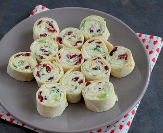 Cranberry feta wraps