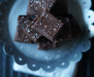 Recept chocolade fudge brownie met zeezout
