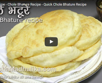 Chole Bhature Recipe Video