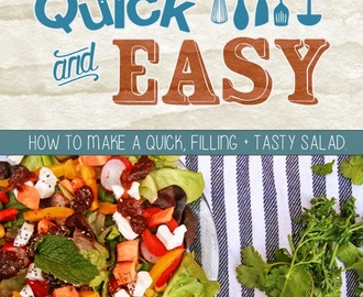 Q&E - How to make a quick, filling & tasty salad.