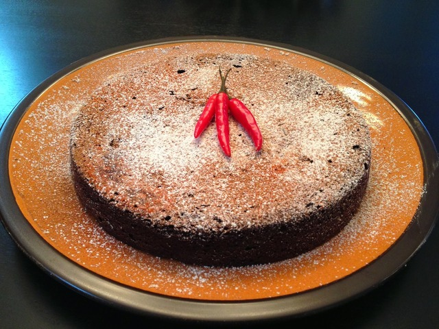 Flourless Spicy Dark Chocolate Cake