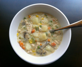 Souper Sunday #17:  Low-Fat Chicken Pot Pie Soup