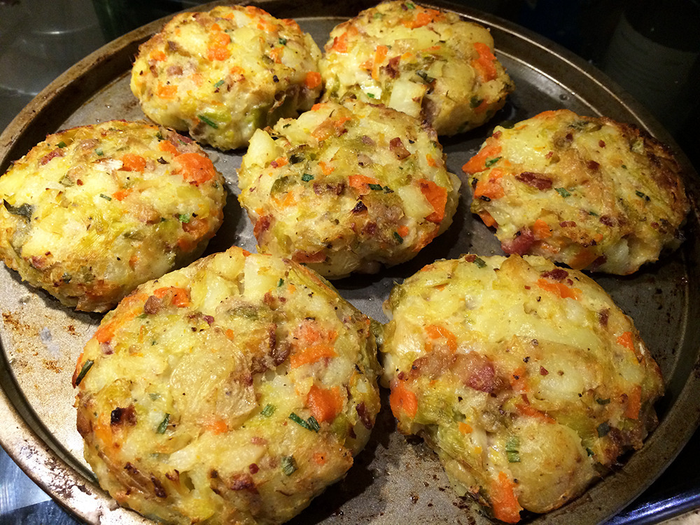 Oven Baked Bubble and Squeak Cakes
