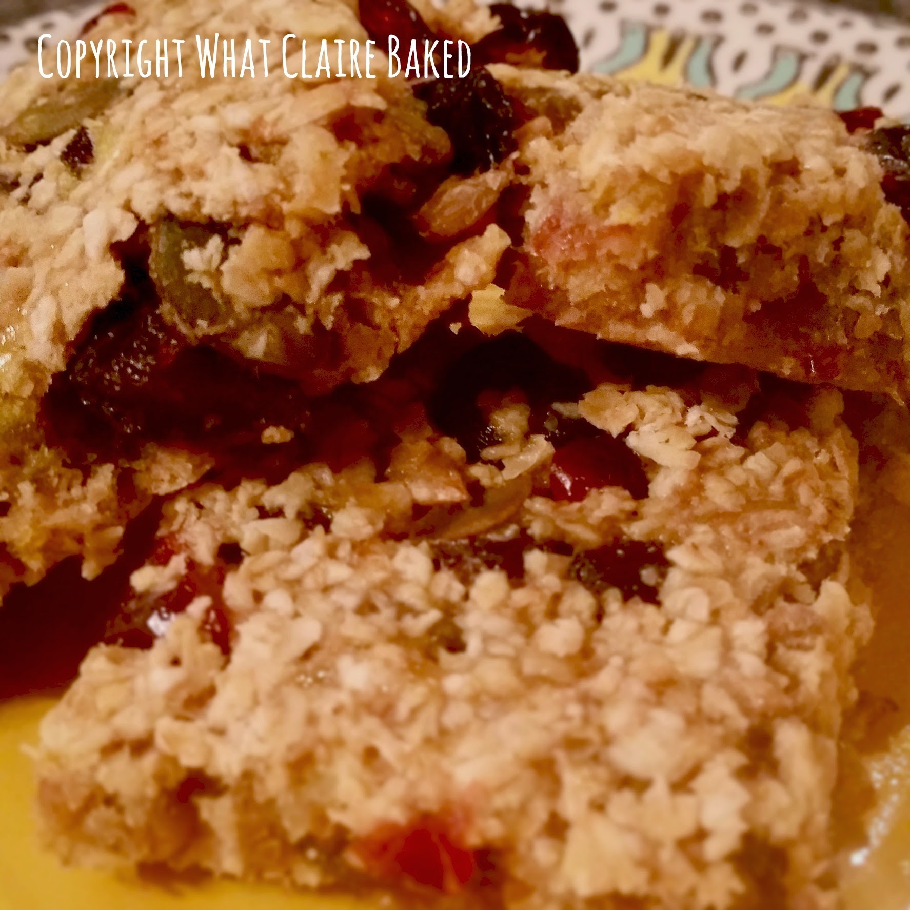 Healthy Flapjacks with Fruit and Seeds