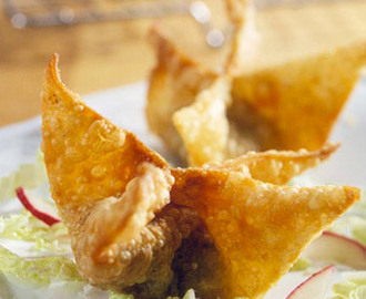 Chicken And Peach Wontons