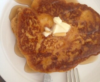 Sweet Potato Breakfast Pancakes (cooked in coconut oil)