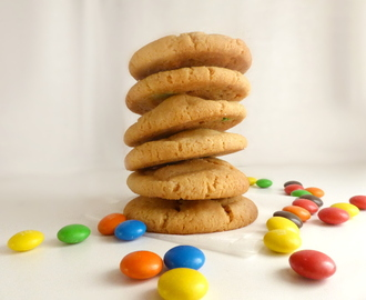 Golden Chewy M&M Cookies