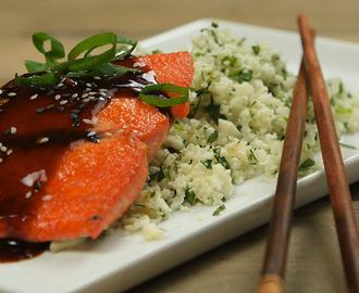 Teriyaki Salmon with Cauliflower Rice