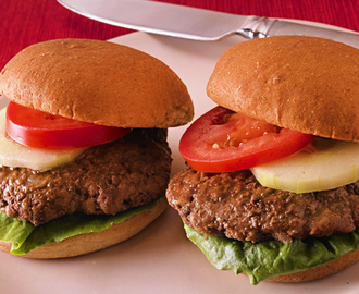 Beef Sliders with Lettuce, Tomato and Cucumber