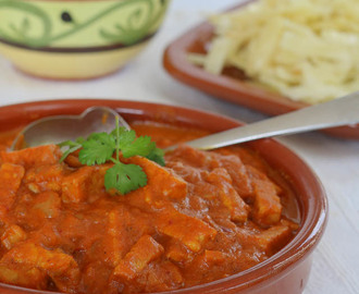 Vegetarische curry met tempeh